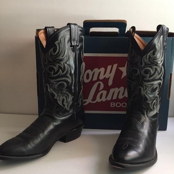 f42431690c0 Tony Lama black el paso western boots sz 9 1/2 EE